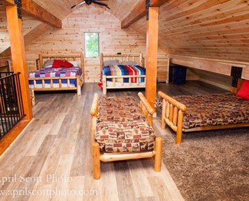 View of the Entire Loft | Glamping Michigan