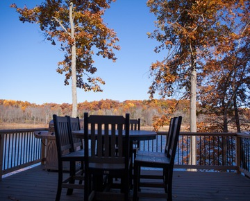 Outside Deck | Cabin rentals in Michigan