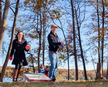 Playing Cornhole | Wedding venues