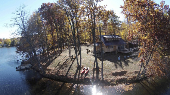 Aerial View | Glamping Michigan