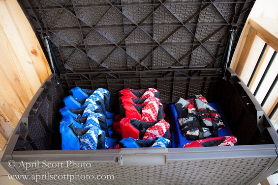 Lifejacket Storage | Outdoor wedding venues in Michigan