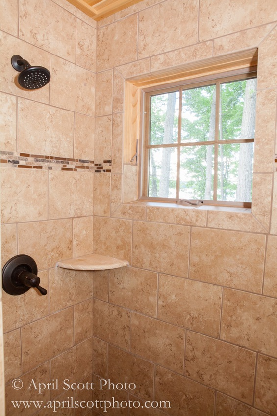 Shower | Michigan cabin rentals